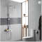 Modern bathroom shower faucet set high quality brass chrome hot and cold shower faucet