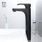 HIDEEP bathroom hot and cold single handle faucet brass black basin faucet