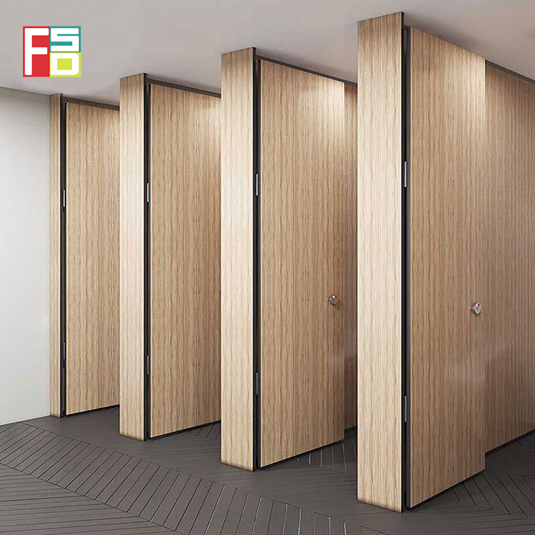 High quality decorative Compact Laminate Toilet Partition hpl honeycomb panel toilet cubicle