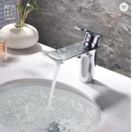 HIDEEP Bathroom hot and cold water faucet brass chrome basin mixer