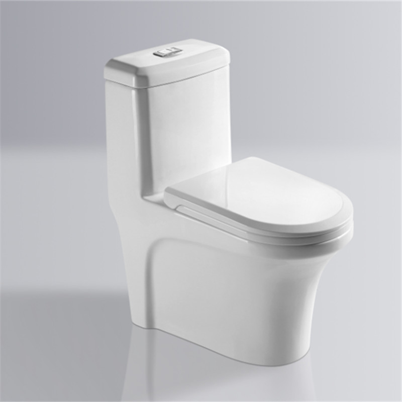 Competitive price sanitary ware white glazed s-trap bathroom double siphonic flush toilet for sell