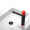 HIDEEP Brass Black Bathroom Basin Faucet Hot Cold Water Tap Button Control Sink Basin Faucet