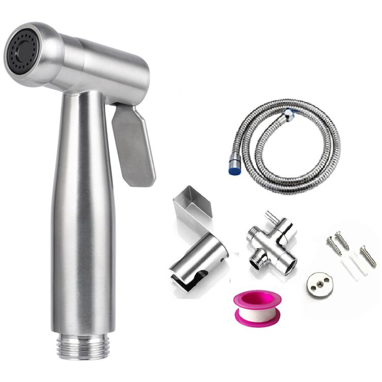 Handheld Toilet Bidet Stainless Steel Bidet Sprayer Bathroom Shattaf Toilet Spray Hand Shower Portable Bidet Water Sprayer Kit