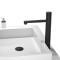Hot Cold water Tap Single Handle Button Control Bathroom Faucet Black Brass Basin Faucet