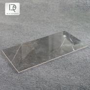 Wholesale luxury marble hotel porcelain floor wall tile Dark gray polished glazed ceramic grey marble tiles
