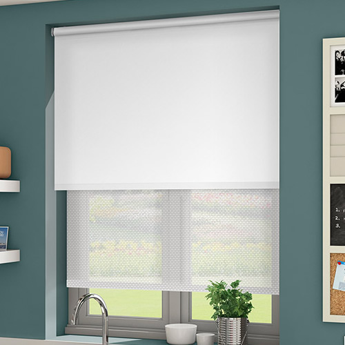 Double window blind double layer roller blind double roller curtain