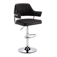 high back ergonomic synthetic leather swivel adjustable height bar stool