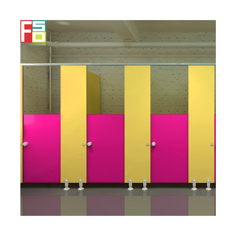 wholesale hpl compact laminate toilet partition urinal divider Phenolic Compact Board Toilet Partition