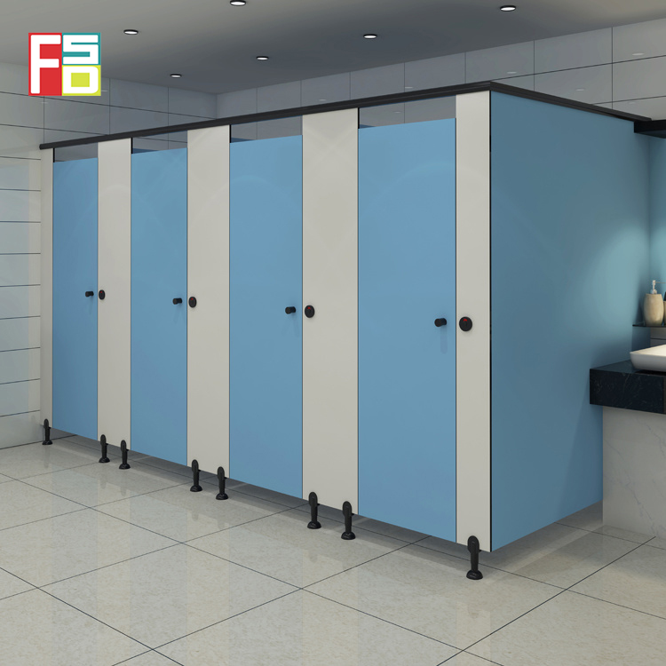 wholesale decorative hpl 12 mm compact phenolic board Commercial Bathroom Shower Stalls