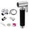 Sanitary Ware 304 Stainless Steel Black Color Hand Held Shower Faucet Shattaf Bidet Sprayer with Rubber Sleeve for Bathroom