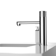 Bathroom Basin Faucet Brass Chrome Hot Cold Water Tap Button Control Basin Faucet