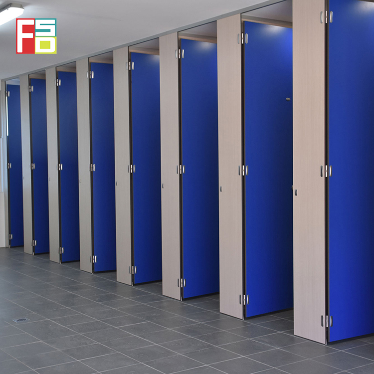 factory manufacturer gate corner fastener toilet partition Compact HPL Toilet Partition