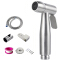 Stainless Steel Bidet Handheld Sprayer Bathroom Brushed Nickel Finish Shattaf Portable Bidet Water Sprayer Kit for Toilet
