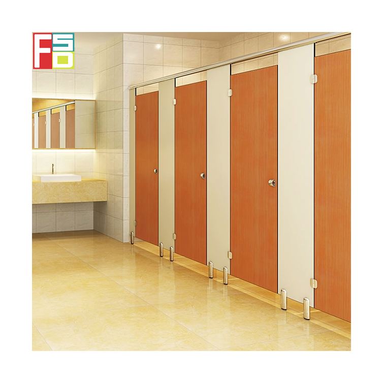 wholesale hpl phenolic toilet shower cubicles door divider Commercial Toilet Stalls