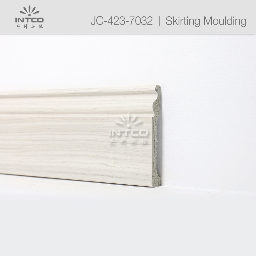 INTCO waterproof plastic polystyrene flooring skirting board moulding