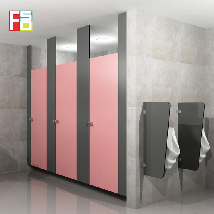 Environmental protection material children phenolic board shower toilet cubicles partition