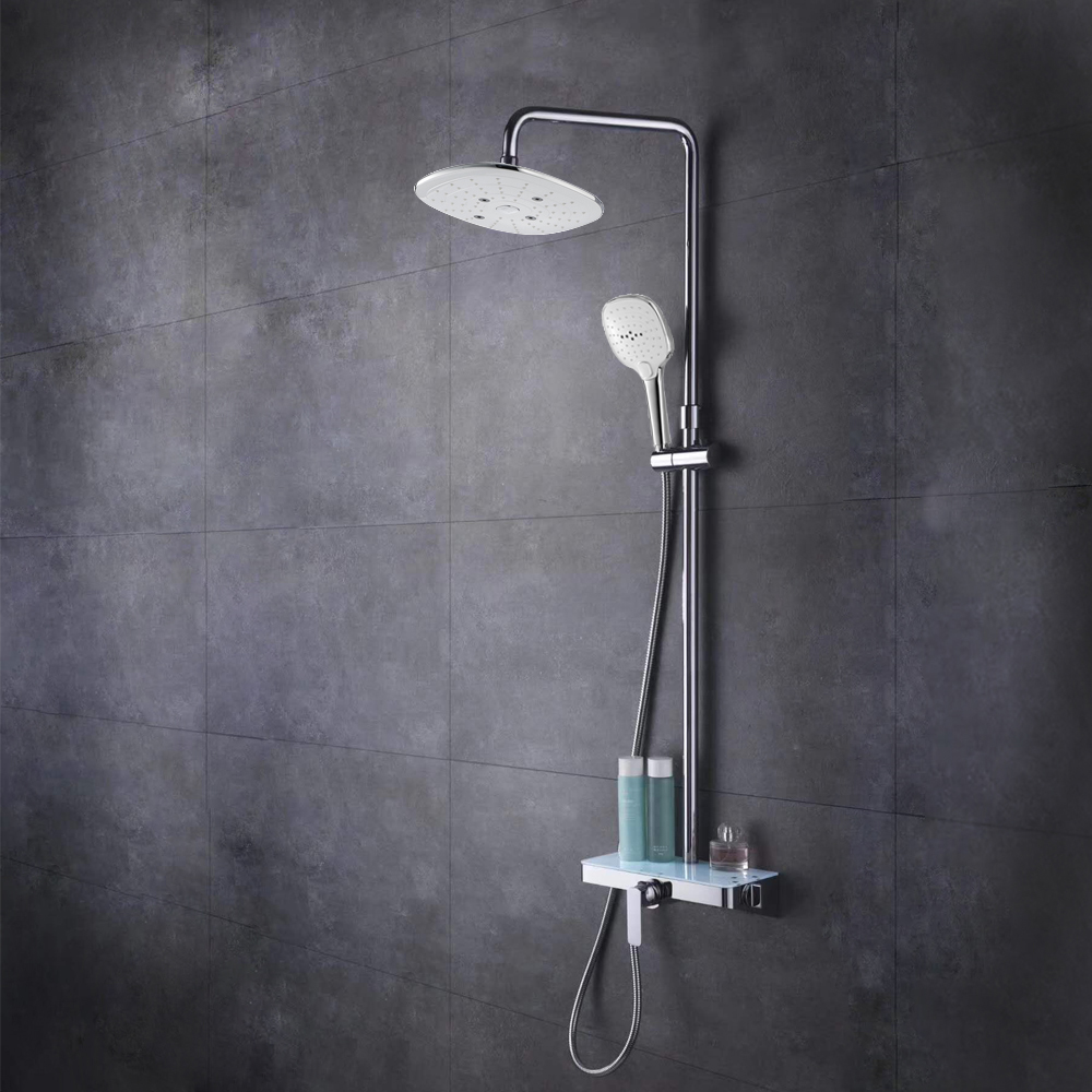 HIDEEP Bathroom shower 24x24cm ABS shower head hot cold water rain