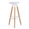 Inexpensive 3 legs bar stools for white kitchen