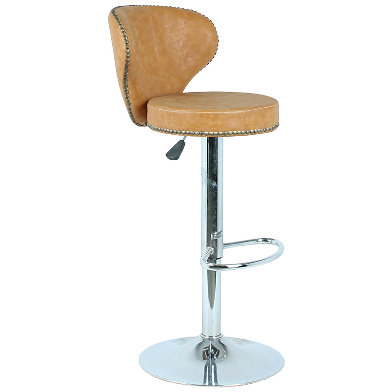 Upholstered swivel bar stools swivel counter high stools with back