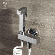 HIDEEP brass chrome bidet set single cold bath spray set