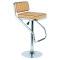luxury light up acrylic pu seat high chair plastic modern bar stools