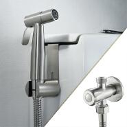 HIDEEP Bathroom 304 Stainless Steel Brushed Single Cold Toilet Bidet Sprayer Set