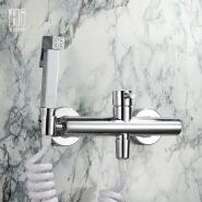 HIDEEP toilet spray gun set brass triangle valve hot and cold wash clean body bidet