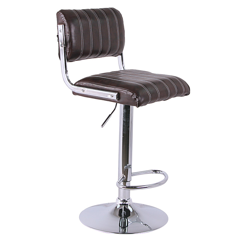 Modern synthetic leather swivel bar stools chairs