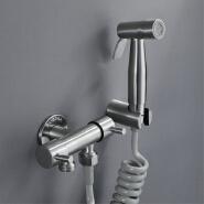 HIDEEP Bathroom Shower Tap Bidet Two Function Toilet Sprayer Bidet Toilet Washer Mixer Stainless Steel Brushed Bidet Faucets