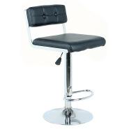 High top black leather bar chair furniture