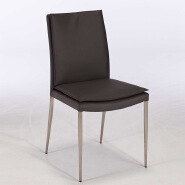 Modern leather dining room chair metal hotel luxury dining side chair
