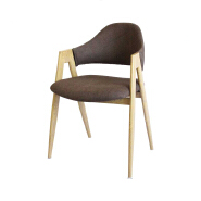 Chinese best price wholesale Bazhou wood legs and armrest dining chair restaurant dining chair