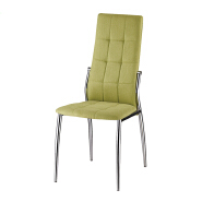 BOB-DC001 modern furniture high quality elegant dining chair made by PU leather and stainless steal tube or chromed tube