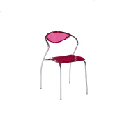 hot sale European style stackable crystal light dining chair with chromed tube in any color