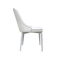 Popular Wholesale Cheap Price PU Leather Metal Chrome Luxury Dining Chair for Dining Room