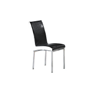 Modern luxury American black and white PU leather dining chair
