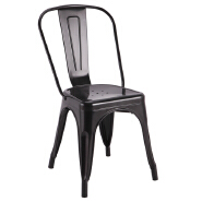 Modern stackable dining chair retro metal restaurant chair china