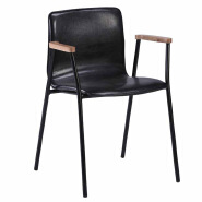 Leather metal frame dinning chairs