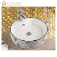 Saudi Dining Room Cheap Prices Luxury Sanitary Ware Different Types of Table Top Ceramic Wash Basin