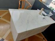 Modern Fashion 2020 New Design Bianco Oro Marble Table Countertops