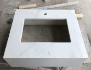 Hotel Bathroom Customized Marble Toilet Vanity Wash Basin Solid Surface Countertop With Integrated Sinks