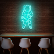 Koncept Free Shipping 90CM Home Party Bar Advertising LED Neon Light Sign Custom Silicone Spaceman Neon Sign Light