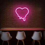 Koncept Free Drop Shipping 40CM 12V Silicone Custom Neon Light Letter Love Dripping Heart Neon Sign