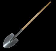 Long Handle shovel Pointed shovel head with wooden handle shovel