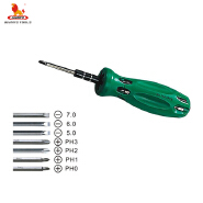 Multi-used Head Screwdriver 7 in 1 Cross Head Screwdriver electronics repair tools