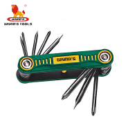 8 in 1 chrome-vanadium steel folding multi screwdriver set