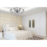 Hot Sales MDF Clothes Storage Cabinet PVC Wardrobe for Bedroom