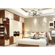 Modern Bedroom Furniture pvc Doors quartz stone Wardrobe