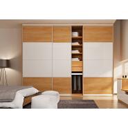 Bedroom wardrobes metal frame large size pvc wardrobe
