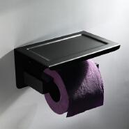 HIDEEP bathroom accessories stainless steel black toilet paper towel holder